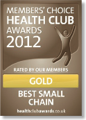 Members Choice Health Club Awards 2012 - Gold - Best Small Chain