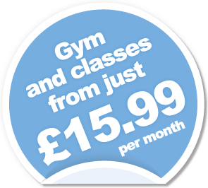 Gym and classes from just &pound;15.99 per month