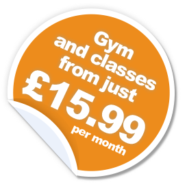 Gym and classes from just £15.99 per month
