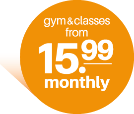 From only £15.99. For unlimited gym and classes.