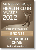Members Choice Health Club Awards 2012 - Bronze - Best Budget Chain