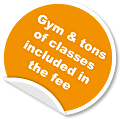 Gym and tons of classes included in the fee