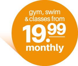 Just £19.99. For gym, swim and classes.
